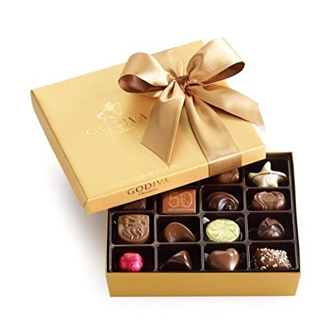 GODIVA Chocolatier Gold Ballotin Congratulations Ribbon 19 Pieces by GODIVA Chocolatier