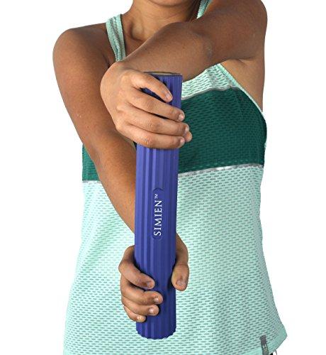 SIMIEN Flexible Rubber Twist Bar - 3 Resistance Bar Levels In 1 - Tennis Elbow, Golfer\'s Elbow, Tendinitis, Works With Brace & Sleeves - Flex & Twist Elbow, Wrist, Forearm Pain Relief - 2 BONUS eBooks