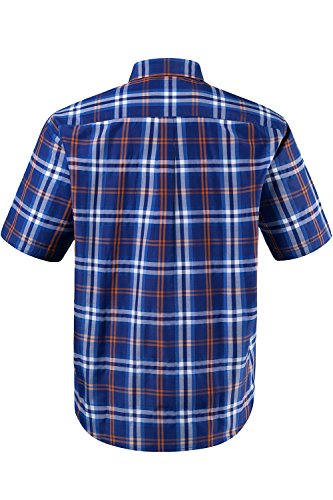 JP 1880 Homme Grandes tailles Chemise à carreaux, manches courtes 702480 Orange