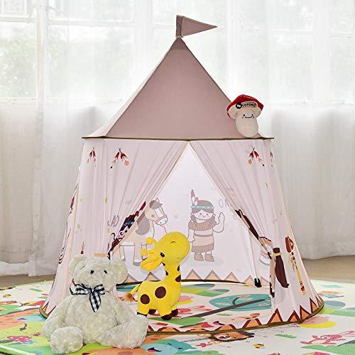 NIGHT WALL Faltbares Spielzelt Castle Playhouse Kids, Spielzeugspielhaus für Kinder im Innenbereich, Park-Babyzelt @ A, Outdoor- und Indoor-Spaßspiele