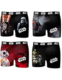 Lot 4 Boxers Microfibre Licence Star Wars