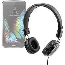 Auriculares de diadema plegables con mando de volumen, para smartphone LG G350 , G5 , K10 , K3 , K4 , K5 , K7 3G , K7 LTE , K8 V , K8 , Optimus Zone 3 , P780 . Color negro - DURAGADGET