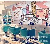 YBHNB Tappezzeria per Unghie Murale Carta da Parati Dipinta A Mano Cosmetici Smalto per Unghie Water-Color 3D Articoli per Parrucchieri Wall-400X280Cm