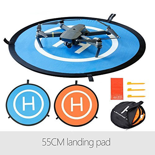 Flycoo 55cm 22in Landing Pad Fast-Fold Pista de Aterrizaje para dji Mavic Air / Mavic Pro / Spark / Platinum / Phantom 34 Drone Helicóptero Plataforma de aterragem