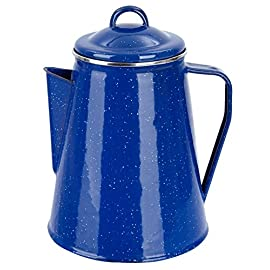 Enamel Coffee Pot with Lid 1 Litre or 1.8 Litres