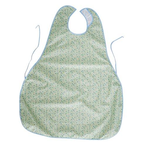 Fenteer ESS-Schürze/Latz für Erwachsene/Lätzchen Fuer Senioren aus Baumwolle - Grün2