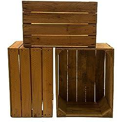 3 Piezas madera Medidas aprox. 49 x 42 x 31cm