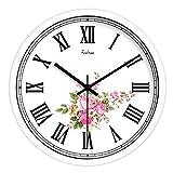 XPY-wall clock Wanduhr funkwanduhr bahnhofsuhr Retro ländliche Wind römische nostalgische Metallwanddiagramme der Numerik stumm Quarzuhr 14 Zoll A2