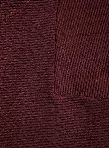 oodji Ultra Femme Robe Coupe Ample en Maille Côtelée Rouge (4900N)