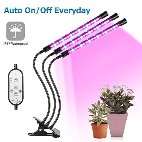 GJNDPXX Pflanzenwachstumslampe Led-Clip ZweiköPfiges Pflanzenlicht 18w27w Vollspektrum-Pflanzentischlampe Geeignet FüR Zimmerpflanzen Verstellbarer Schwanenhals(Inklusive Adapter)