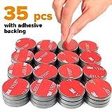 Imanes de cerámica adhesivos, 25 x 4 mm, 36 piezas