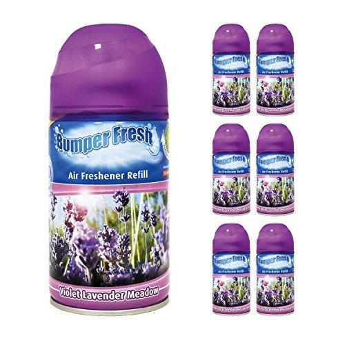 6-x-bumper-fresh-freshmatic-max-automatic-spray-ricarica-250-ml-violet-lavender-meadow
