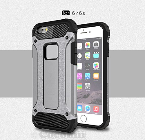 iPhone 6S / 6 Hülle, Cocomii Commando Armor NEW [Heavy Duty] Premium Tactical Grip Dustproof Shockproof Hard Bumper Shell [Military Defender] Full Body Dual Layer Rugged Cover Case Schutzhülle Apple ( Gray