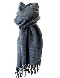 Echarpe homme 30% laine douce et chaude grise