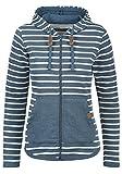 Blend She Clara Damen Sweatjacke Kapuzenjacke Hoodie Mit Kapuze Und Fleece-Innenseite, Größe:S, Farbe:Ensign blue (70260)