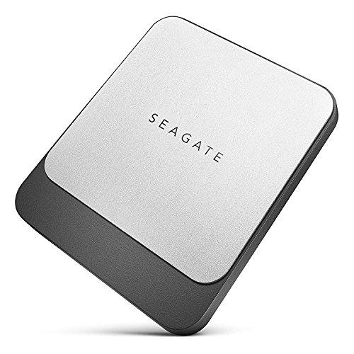 Seagate 500 GB Fast SSD USB C Portable External Hard Drive (Black)