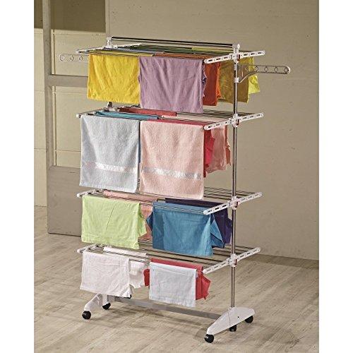 Höhe Turm (One Click Luxus Wäscheständer, Wäschetrockner, Turm, Standtrockner mit klappbaren Seitenflügel auf 4 - Ebene)