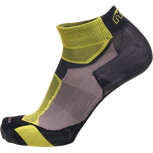 MICO CALZA RUNNING professional 100% Made in Italy extralight weight Uomo Donna Sportivi Antracite Giallo Fluo TG.M