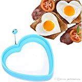 Navisha 1Pc Egg Shaper Silicone Fried Oven Poacher Pancake Egg Ring Mold Mould Kitchen Gadget Cooking Tool Randomly Colour