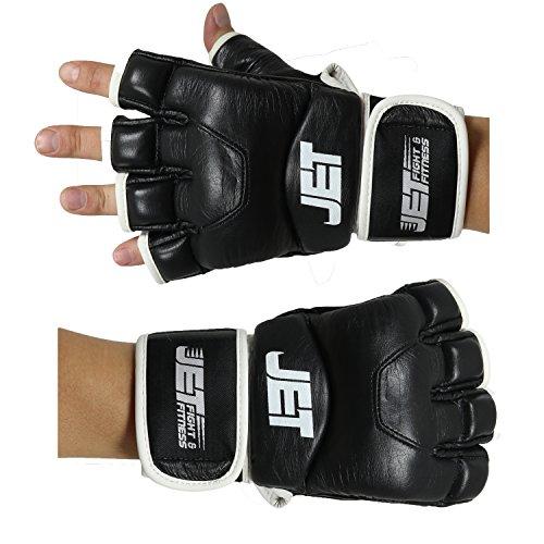 MMA Handschuhe Leder Jet fight & fitness ®–  Handarbeit – GRATIS EBOOK - Boxhandschuhe schützen Fäuste