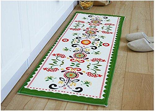 Sannix tappeti da cucina lavabile bagno lavabile tappeto moderno tappeto Pad Kids Rug Runners Bathroom Rug Sets coral Fleece Small tappeto, Flanella, Flower, 19.69