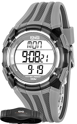 oceanic - unisex sports watch, heart rate monitor + chest belt, wr100m, ohr311/3