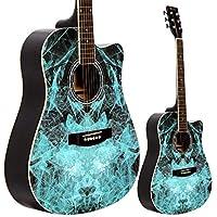 Lindo Blue Fractal Apprentice Series 42C Acoustic Guitar & Gig Bag