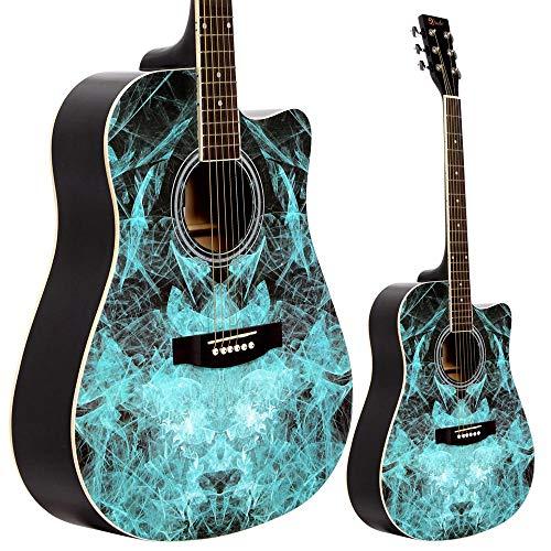Lindo Guitars Fractal Apprentice Serie 42C Akustische Gitarre und Gigbag, Blau