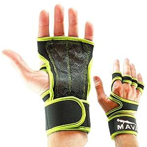 Cross-Training-Handschuhe mit Handgelenk-Unterstützung für Fitness, WOD-Trainingseinheiten, Gewichtheben, Powerlifting, Fitnessstudio –Silikon-Polsterung zur Vermeidung von Schwielen–passt Frauen und Männern, besonders griffige Handinnenflächen XS lime