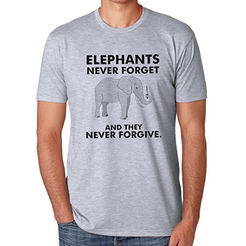 Elephants Never Forget And They Never Forgive XXL Uomini T-Shirt