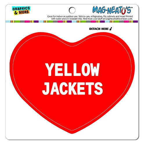 Graphics and More Mag-Neato 's-TM Auto Kühlschrank Vinyl Magnet I love Herz Tiere t-z, Yellow Jackets