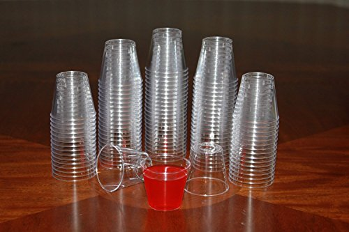 1Unze Klar Kunststoff Schnapsgläser, Polystyrol, transparent, 1 ounce