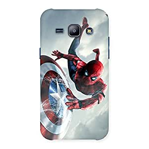 Stylish web sheild Multicolor Back Case Cover for Galaxy J1