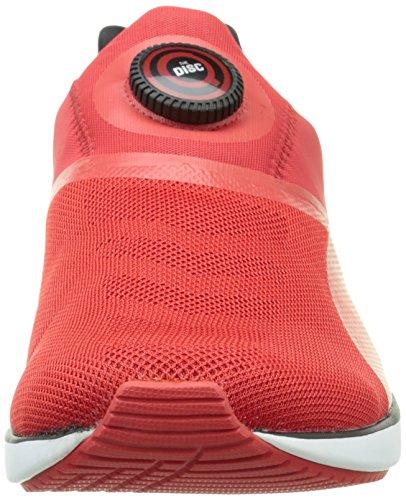 PumaDisc Sf - Scarpe da Ginnastica Basse Uomo Rosso (Rot (rosso corsa-black 01))