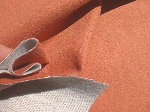 D&I Alcantara - Tessuto Imbottito, Effetto Pelle Scamosciata, Colore Terracotta