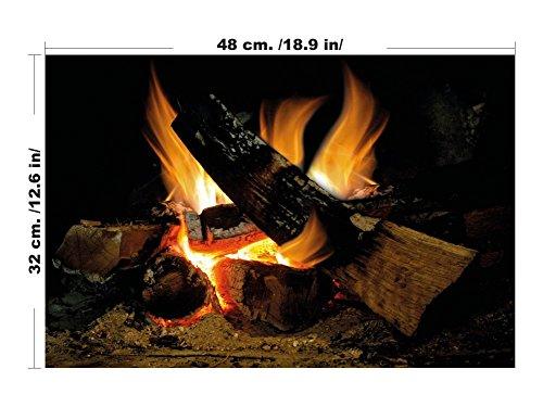 Brennender Kamin - Feuer Flammen - Wand-Kunst-Innenarchitektur-Abziehbild - Hauptdekorationaufkleber (Mittel)