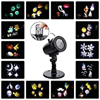Christmas Deocration, Halloween Projector, 14 Patterns Rotaing Projector Spotlight for Indoor Outdoor Christmas Birthday Party Garden Wall Ceilling Decor by XEMQENER