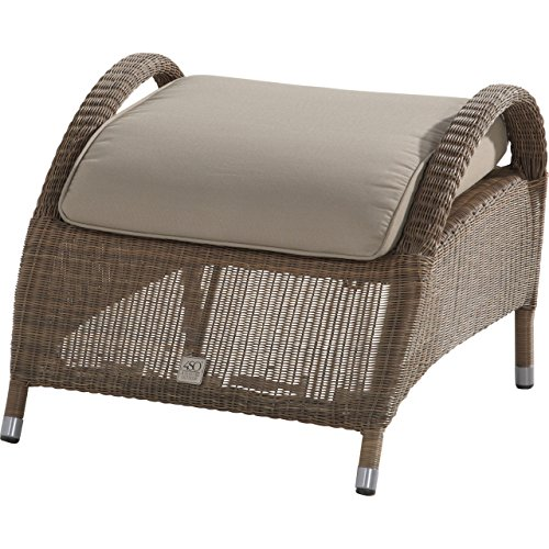 4Seasons Outdoor Sussex Fußhocker inkl Kissen Polyloom taupe 212394