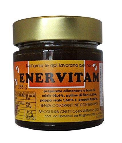 ENERVITAM: energetico naturale con miele, pappa reale, polline, propoli - 255 g