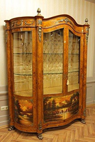 LouisXV Barock Vitrine Rokoko Antik Stil Schrank Louis XV MoVi1100AlPaSo antik Stil Massivholz....
