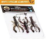 Savage Gear Reaction Crayfish 5,5cm Kit - 3 Gummikrebse + Jigkopf zum Spinnfischen auf Barsch,...
