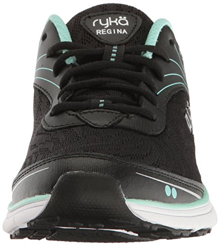 Ryka Womens Regina Walking-Shoes Black/Mint