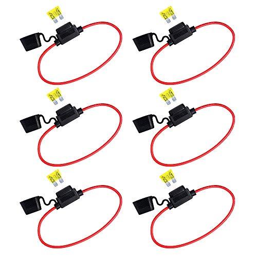 Fusibles Mini profil bas lame 10 A auto voiture Indicateur DEL Glow quand soufflé ATC ATO