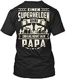 Stylisches T-Shirt Damen / Herren / Unisex von Teespring - SUPERHELDEN OHNE UMHANG NENNT MAN PAPA !