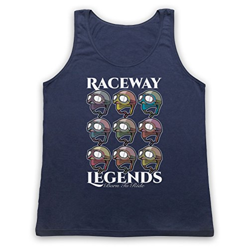 Raceway Legends Born To Ride Tank-Top Weste Ultramarinblau