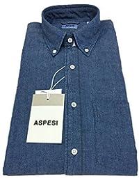 ASPESI chemise homme couleur en jeans mod B.D. MAIGRE CE14 E542 bouton vers  le bas et poche 100%… EUR 132,30 · Aspesi Chemise Homme Blanc avec Poche  Modèle ... 2be8d76e4dc4