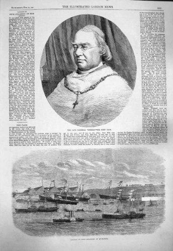 1865 Wiseman Cardinal Cinq Bateaux Liverpool de Vapeurs [Cuisine et Maison] par original old antique victorian print