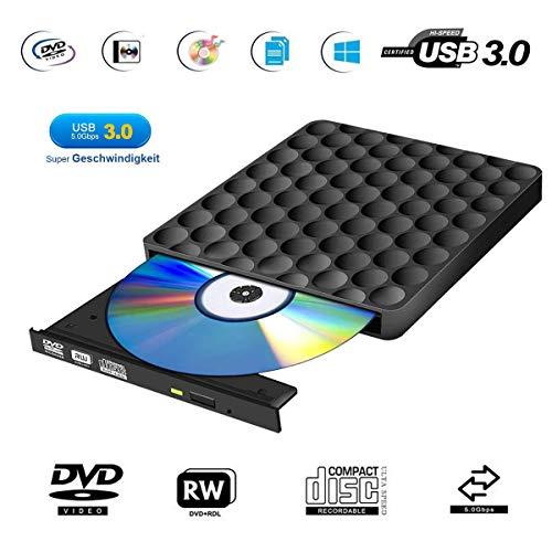 Lettore Masterizzatore CD DVD Esterno USB 3.0 Portatile Unità Slim Lettore CD DVD RW Esterno per Windows10 / 7/8, laptop, Mac, Macbook Air/Pro, Apple, Desktop, PC