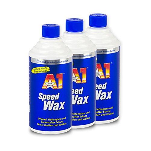 DR. WACK-SET 3X Dr. Wack A1 Speed Wax Lackpflege LackReiniger 500ml 2720