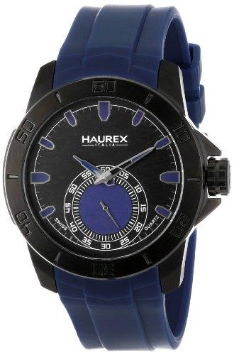 Haurex 3N503UBB - Orologio da polso da uomo, cinturino in gomma